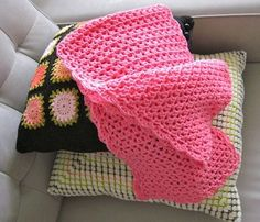 Crochet Pink Shawl - tutorial
