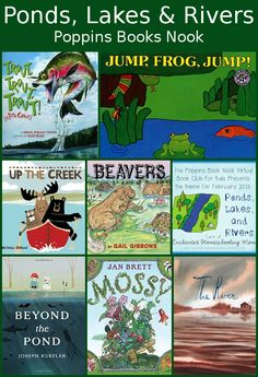 Poppins Book Nook: Ponds, Lakes & Rivers - collection of books on this months theme - 3Dinosaurs.com