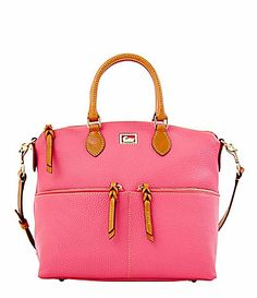 Dooney and Bourke Dillen Leather Double Pocket Satchel #Dillards. I love this purse!