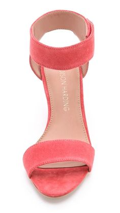Madison Harding Shavonne Low Wedge Sandals -- a perfect pair for wedding season.