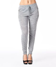 Loving this Heather Gray Zipper-Pocket Lounge Pants on #zulily! #zulilyfinds