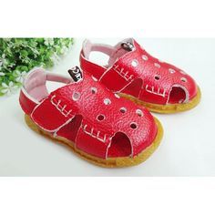 Cute Red Leather Little Toddler Infant Baby Girls Party Sandals Shoes  SKU-133072