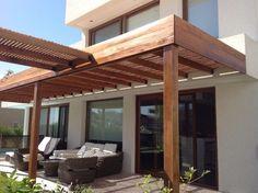 Pergola To House Attachment Back Patio, Patio Roof, Pergola Patio, Pergola Plans, Pergola Ideas, Patio Ideas, Patio Interior, Cheap Pergola, Small Pergola