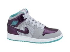 Girl's Nike Air Jordan 1 phat 364781 016 Basketball Sneakers Wolf Grey Ultra Violet New Green (kids 7, Wolf Grey Ultra Violet New Green) Jordan, http://www.amazon.com/gp/product/B007P6T8AU/ref=cm_sw_r_pi_alp_oHnAqb0BXMPH9