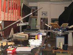 Siebdruckwerkstatt Neukölln Diy Shops, Berlin Germany, Contemporary, Silk Screen Printing, Work Shop Garage, Printing, Berlin