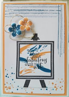 Innovative creativity from PaperArtsy. Paint, stencils, and techniques galore for any mixed media enthusiast to enjoy. Palette, Stampin Up Catalog, Painted Paper, Stamping Up, Stampin Up Cards, Cardmaking, Birthday Cards, Greeting Cards, Paper Crafts