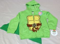 Teenage Mutant Ninja Turtles Zipper Hooded Sweatshirt Removable Cape 5T Hoodie in Clothing, Shoes & Accessories, Baby & Toddler Clothing, Boys' Clothing (Newborn-5T) | eBay