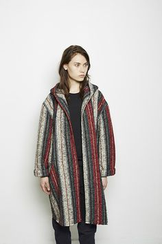 Top to bottom: Pinterest, Jane Fonda found on Pinterest, Isabel Marant / Ibo Kaftan Coat From sitting by beach-built fire pits to keeping warm as the weather transitions, blanket wool is a reliable classic for all seasons. -Hayley