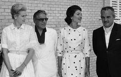 July 06, 1961: Princess Grace, Aristote Onassis, Maria Callas and Prince Rainier, in Majorca, Spain.