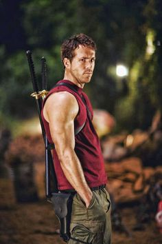 Ryan Reynolds as Deadpool, set to reprise his role for the 2016 solo film.