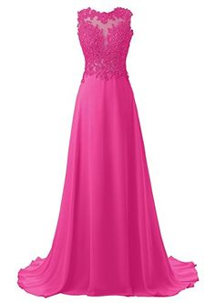MyProms Lace Appliqued Prom Dresses 2017 Long Evening Gowns for Women Formal Fuchsia US14 >>> Amazon most trusted e-retailer #HomecomingDresses2017
