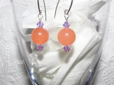Petite Sterling silver Pink Peach Malay Jade by AStyleEveryday