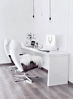 Sunday work from the bright home office | onlydecolove.com