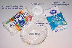 Marshmallow Fondant Recipe ... cheaper than the nasty store-bought fondant, plus it tastes better!