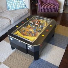 working pinball-coffee-table