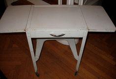 Retro Vintage Metal Typewriter Table--End Table via Etsy.