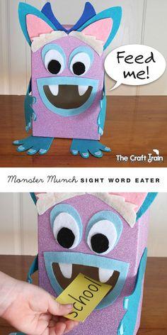 monster munch sight word eater learning activity for kids