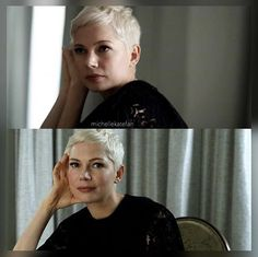 // I love her // michelle williams // Pixie Hairstyles, Pixie Haircut, Short Hairstyles For Women, Very Short Hair, Short Hair Cuts, Pixie Cuts, Hair Dos, My Hair, Michelle Williams Hair