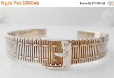 Sterling Buckle Cuff Bracelet Signed CCO Belt by Libbysmomsvintage ***ALSO SEE Vintage Jewelry at: http://MyClassicJewelry.com/shop
