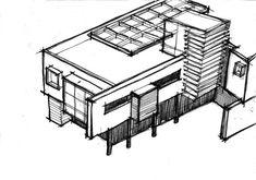 Casa MMP – Mauricio Melara Arquitetura Cinema Room Small, Small Rooms, Houses, Arquitetura, Modern House Exteriors, Small Bedrooms, Homes, House, Computer Case