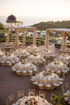 Nicole and Greg's Timeless and Whimsical Wedding at The Pelican Hill Resort - wedding reception Chic Wedding, Perfect Wedding, Dream Wedding, Wedding Day, Timeless Wedding, Elegant Wedding, Wedding On The Beach, Luxury Wedding, Intimate Wedding Reception