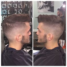 Men's haircut high fade