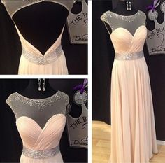 Backless Prom Dresses,Open Back Prom Dress,Cap Sleeves Prom Gown,Sparkly Prom Gowns,Elegant Evening Dress,Sparkle Evening Gowns,Beaded Evening Gowns,Sexy Prom Dress