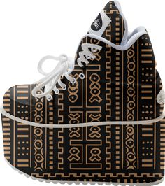 Mud Cloth Platform Sneakers from Saytoons on Print All Over Me-$250