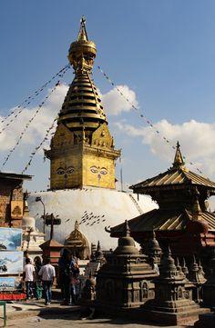 Le temple Swayambunath à Katmandou