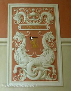 Italian Artisan Courses - Architectural decoration, Mural painting, wall finishes in Florence, Italy-panels by Vieri Panerai Wall Painting Decor, Interior Painting, Grisaille, Wall Finishes, Acanthus, Mural Art, Architecture Details, Fresco, Illustration