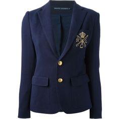 RALPH LAUREN BLUE LABEL embroidered blazer ($357) via Polyvore