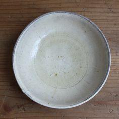[エンベロープオンラインショップ]山野邊さんのゴムの木灰釉粉引 平鉢