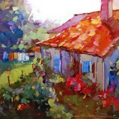 """A World of Color in France"", painting by artist Dreama Tolle Perry"
