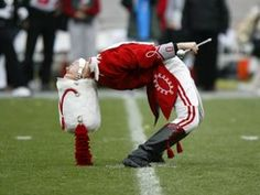 yeah, so... I never did exactly THAT as drum major, but I had some pretty good moves! lol.  #2greatyears!