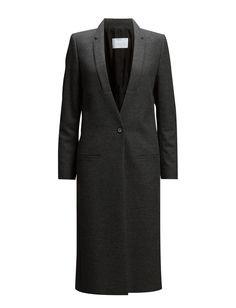 DAY - 2ND Dellina Inner lining Paspel pockets Single button closure Notched lapel Chic Feminine Iconic Innovative Modern Coat Winter jacket Winter