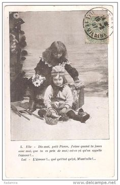 """Carte Postale Ancienne """"L'AMOUR QUE QU'C'EST QU'CA?..."""" France."""