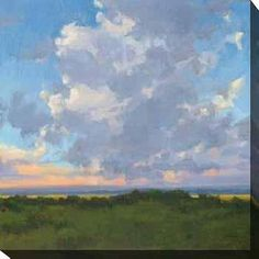 Kim Coulter 'Afternoon Sky II' Giclee Canvas Art - Overstock™ Shopping - Top Rated Gallery Direct Canvas