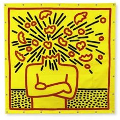 """ Untitled (Exploding Head), 1983 by Keith Haring. Kritzelei Tattoo, Tattoos, Keith Allen, Keith Haring Art, James Rosenquist, Street Art, Big Bang, Art Walk, Wow Art"
