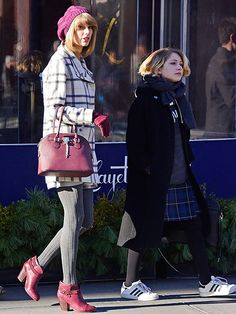 Take an Eating Tour of Taylor Swift's New York City | LAFAYETTE | A chic café with an expansive bistro-inspired menu, Lafayette proved to be the ideal spot for a cozy lunch date between her and pal Tavi Gevinson in December.