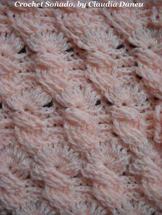 """Crochet cables, and fans in an amazing combination. Ochos y abanicos, en una combinación sorprendente. """"CROCHET FOR THE SOUL... AND MORE"""" (non-conventional c..."""