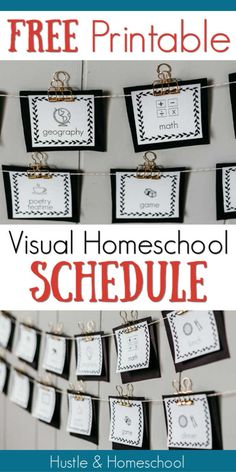 Visual Homeschool Schedule Visual Homeschool Schedule 7 Reasons Why A Visual Homeschool Schedule Is Beneficial Includes A Free Homeschool Schedule Printable To Get You Started Visual Homeschool Schedule Plus Free Printable Kindergarten Lesson Plans, Homeschool Kindergarten, Kindergarten Goals, Schedule Cards, Schedule Printable, Free Printables, Homeschool Apps, Preschool Schedule, Home Schooling