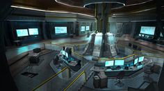 Cyberpunk, Future, Futuristic, Sci-fi Lab by ~jimmyjimjim on deviantART