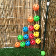 A homemade outdoor abacus for math learning on the preschool playground