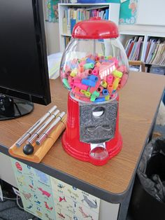 Eraser Cap Dispenser by teacherbitsandbobs via Pinterest Inspiration: For rewards! #School #Eraser_Dispenser #teacherbitsandbobs