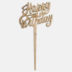 Happy Birthday Cake Topper -Wooden Cake Topper-Laser Cut Topper-Birthday Topper-Birthday Cake Decor-Anniversary Topper-Plywood Decor