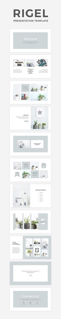 Rigel is an elegant, simple and impressive presentation template for both PowerPoint and Keynote. It is an easily editable multipurpose presentation with high functionality which can be used for any field you need. #ad #ppt #powerpoint #keynote #template