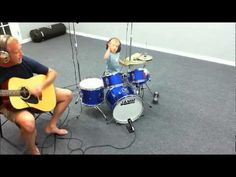 3 year old drummer playing Louie Louie