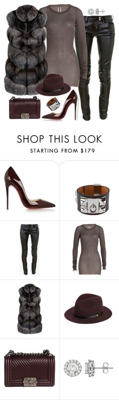 """Untitled #1679"" by dnicoleg ❤ liked on Polyvore featuring Christian Louboutin, Balmain, Rick Owens, Harrods, rag & bone and Chanel"
