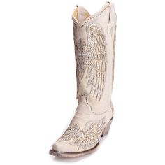 Corral Women's Bright Cross and Wings Cowboy Boots
