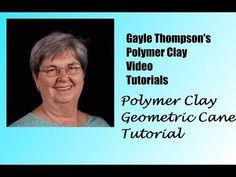 (2) Polymer Clay Geometric Cane Tutorial by Gayle Thompson - YouTube